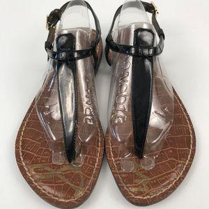 Sam Edelman Gigi Black Patent Thong Sandal